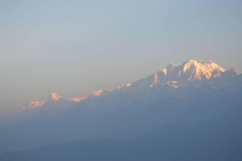 Morning view from Bara Phokari Tourist destination in Nepal, Lamjung