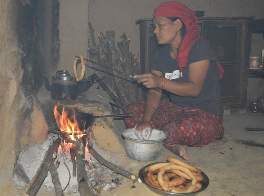 """Making a """"Cel rote""""  Travel in Nepal Homstay in Nepal"""