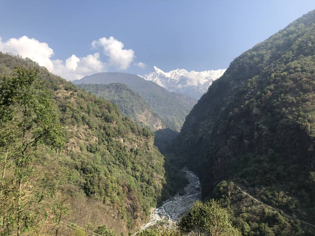 A view from Bhujung beshi Gurung heritage trail