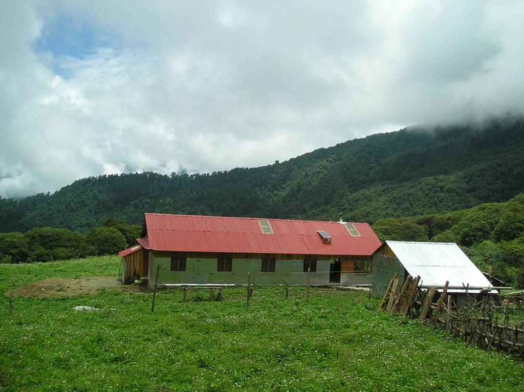 A community run lodge for tourists