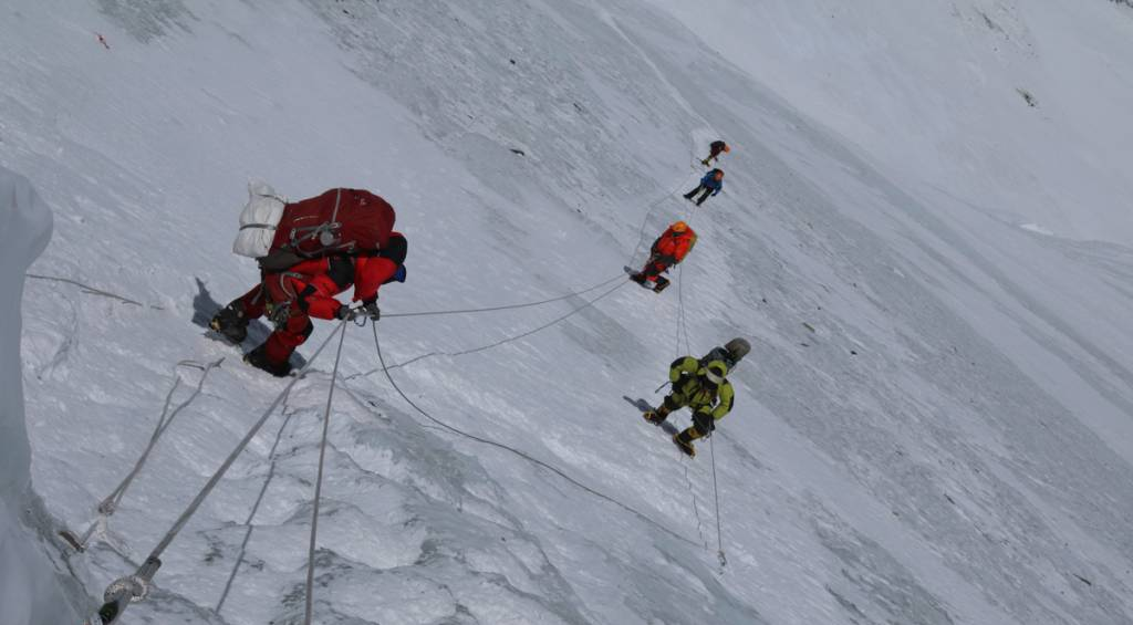 A picture of Everest climbing in 2019