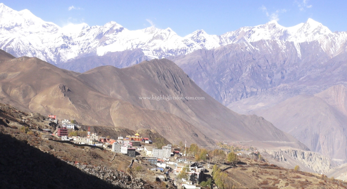 A view of Muktinath Area