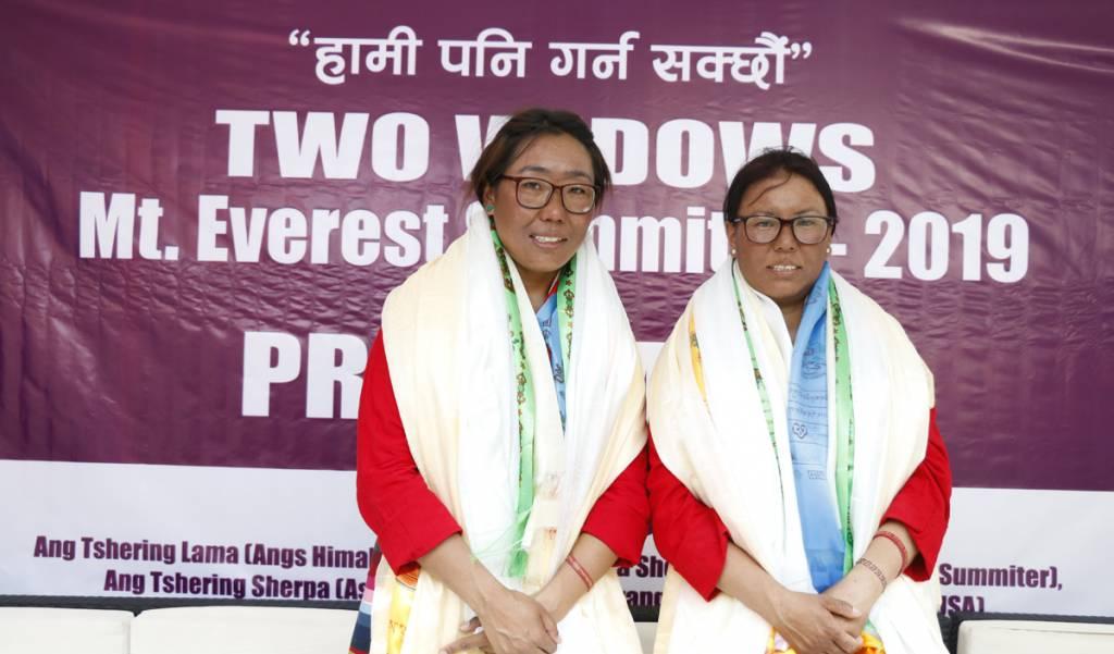 Nima Doma Sherpa and Fudirki Sherpa (two widow climber)