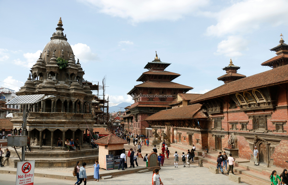 Patan Durbar Square, a world heritage site in Nepal