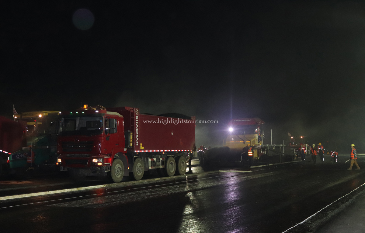TIA Runway under Renovations at Midnight