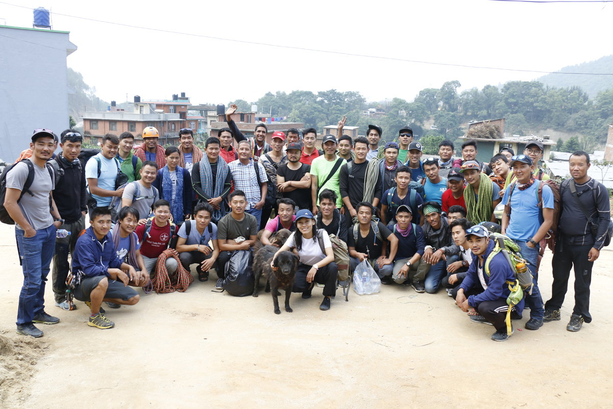 Participants of Basic Mountaineering Training organized by NMA