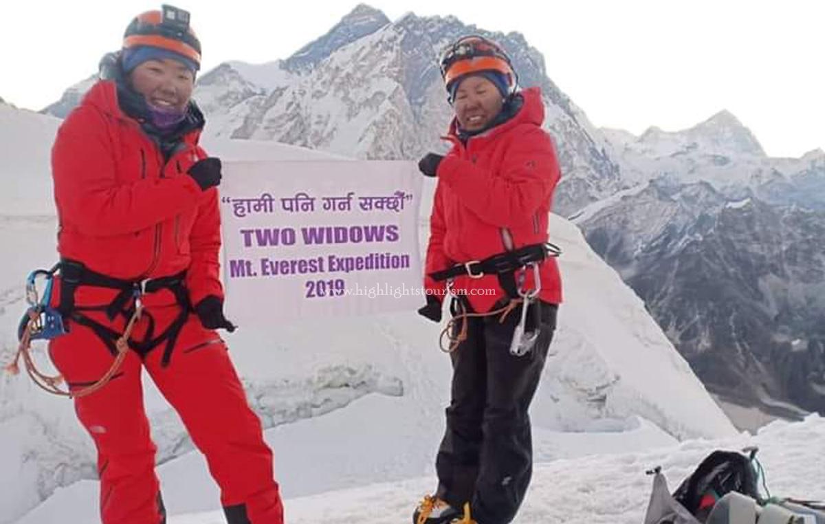 Two widows Mt. Everest summiter