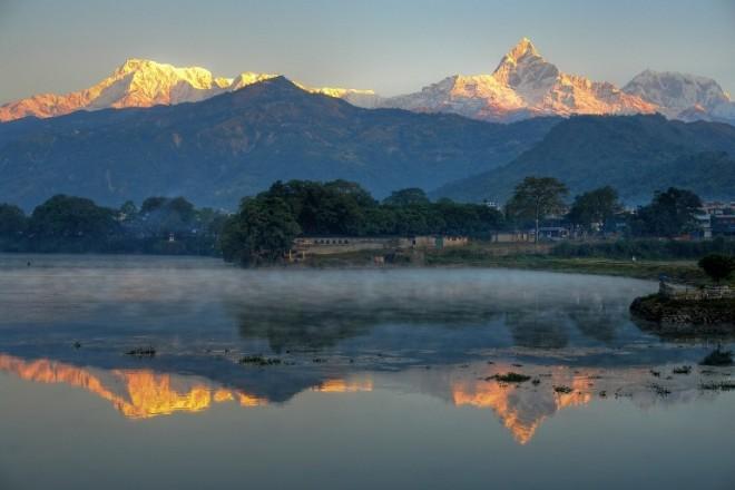 Fewa lake, Seven lake in Pokhara.