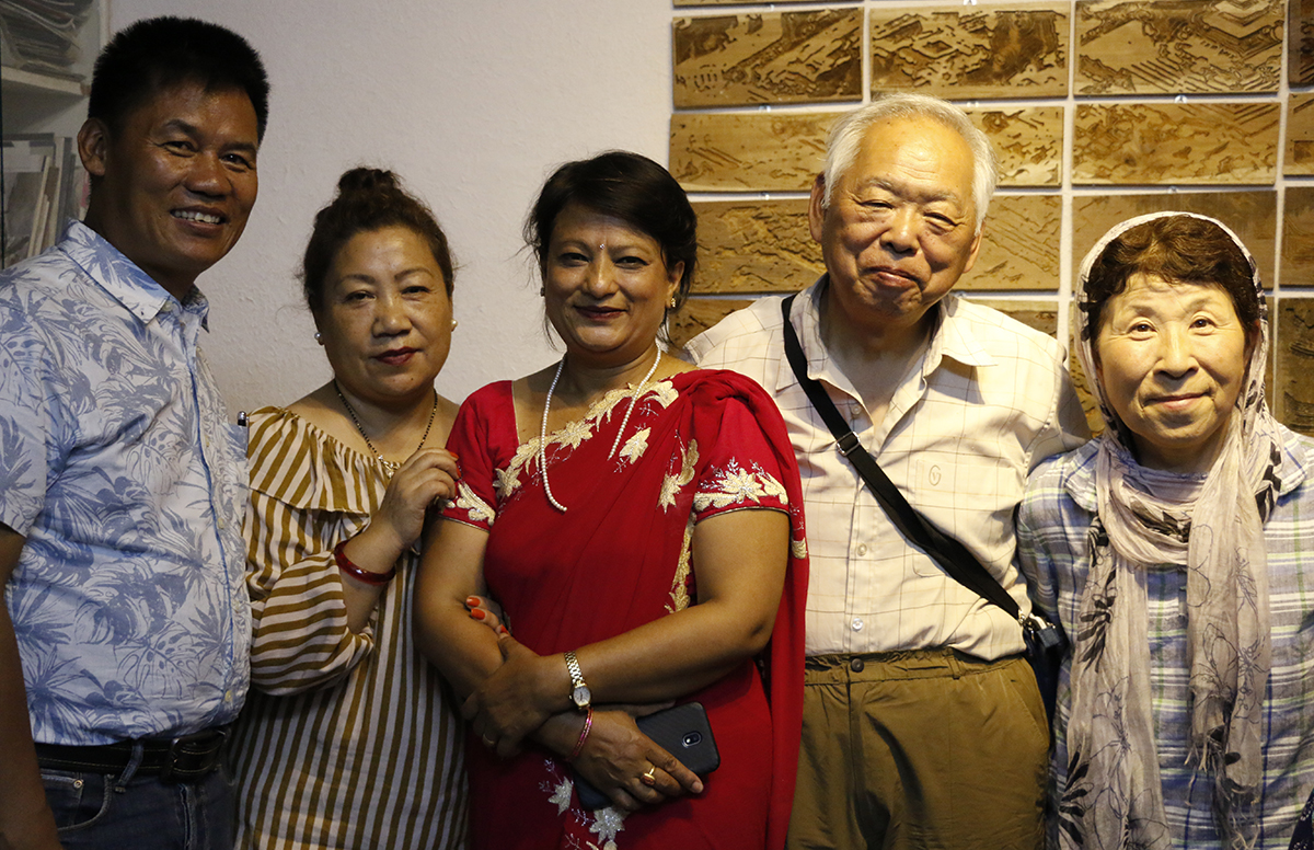 Mr. and Mrs Furuhata with local friends in Nepal.