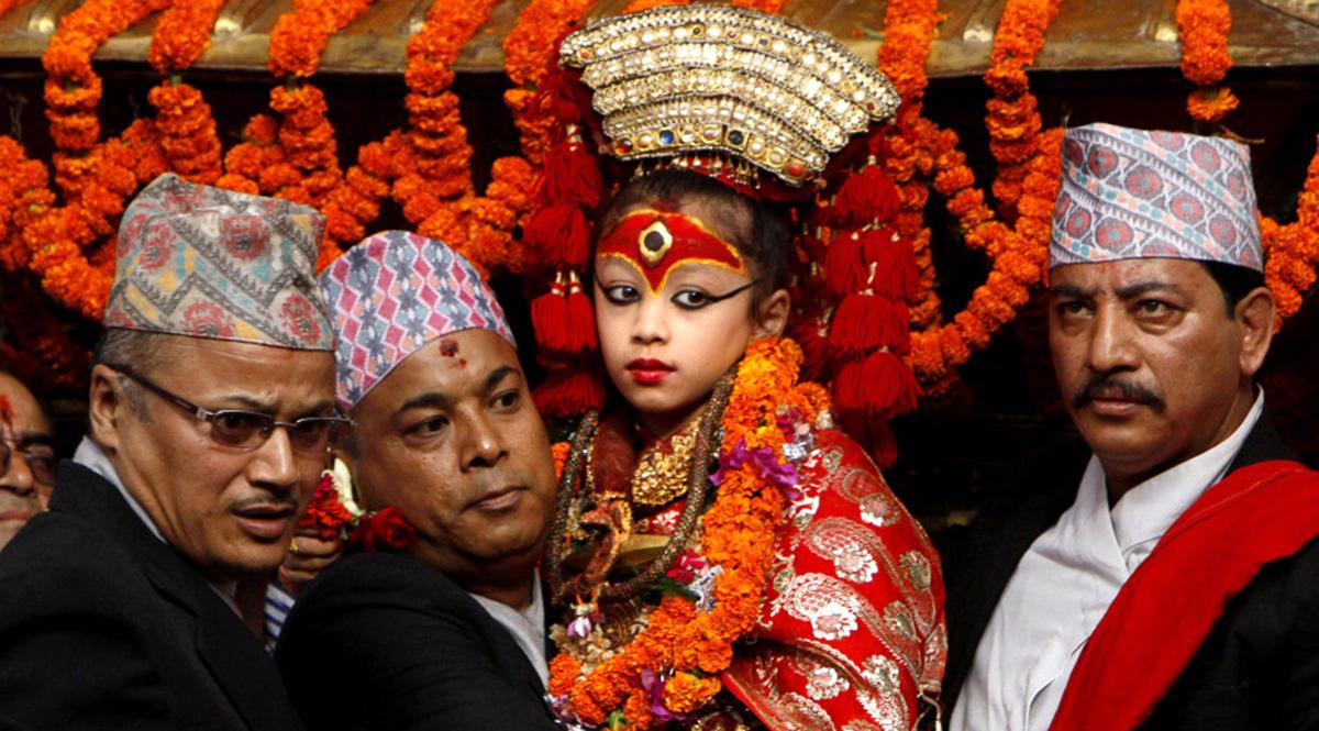 Living Goddess Kumari in Nepal