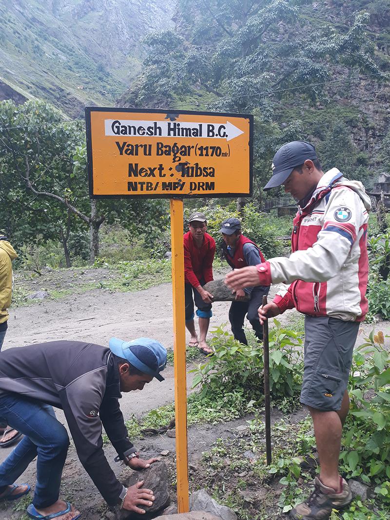 sign post being established