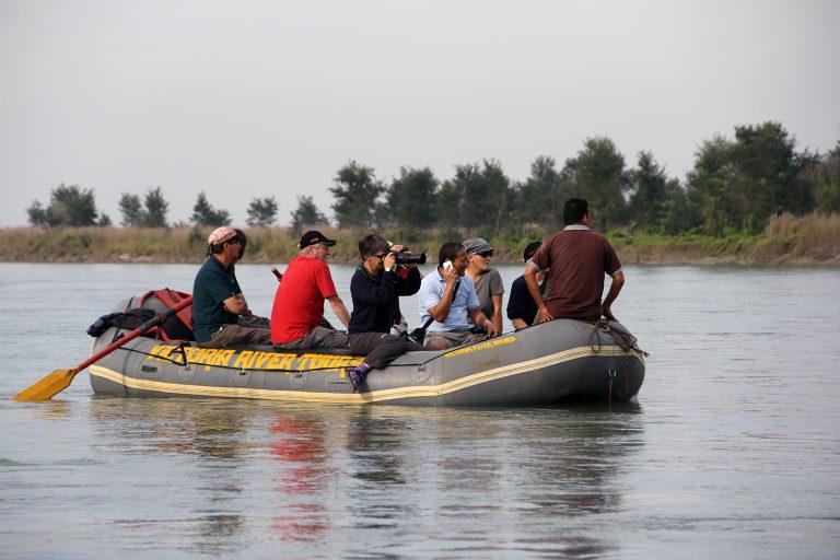 rafting down to Koshi Tappu