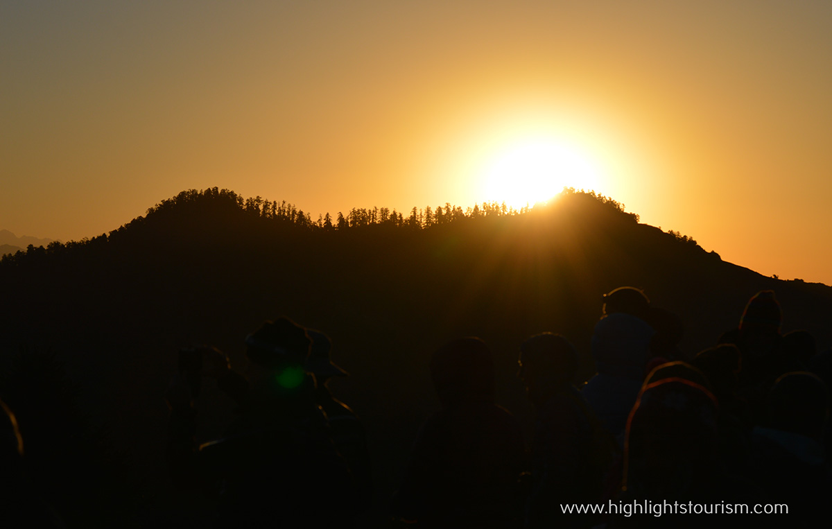 Sun rise view from Poon Hill