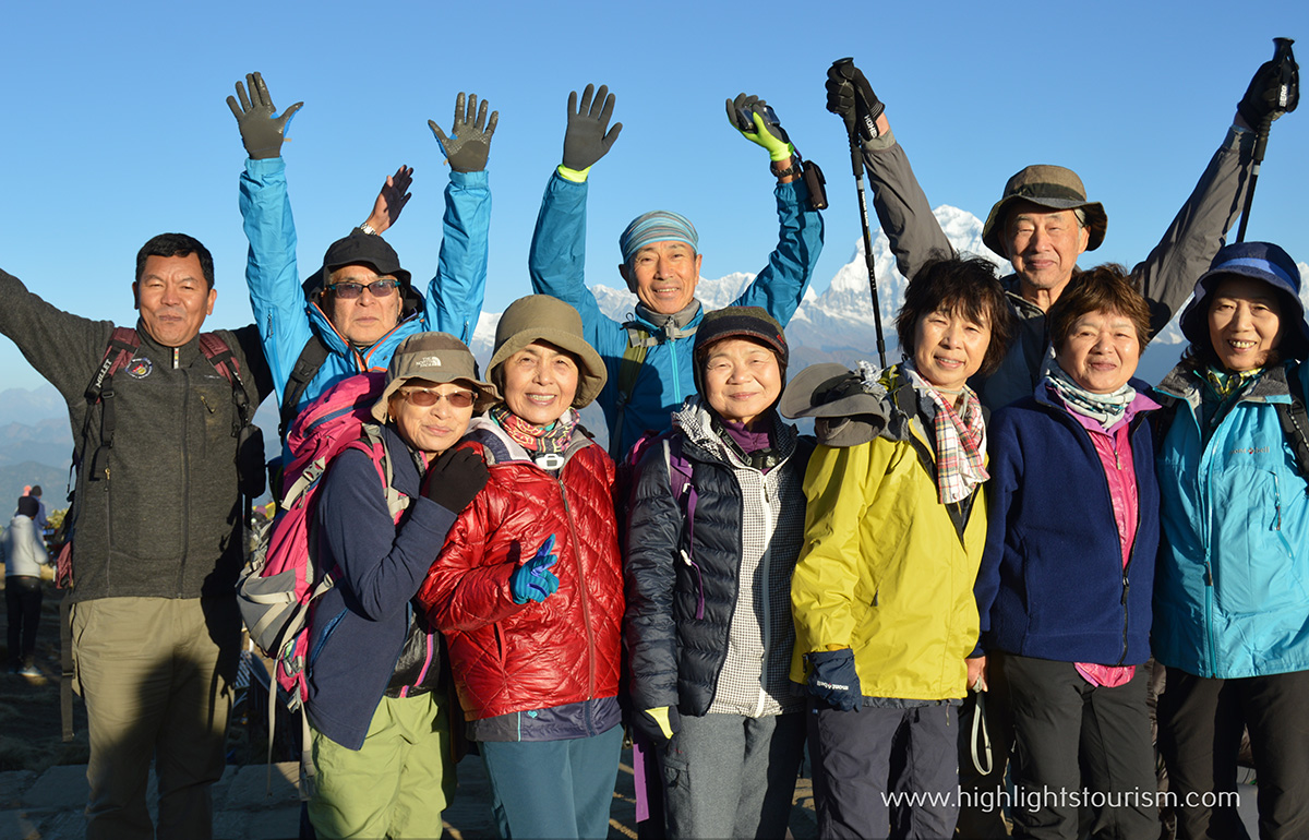 Tourists at Poon hill