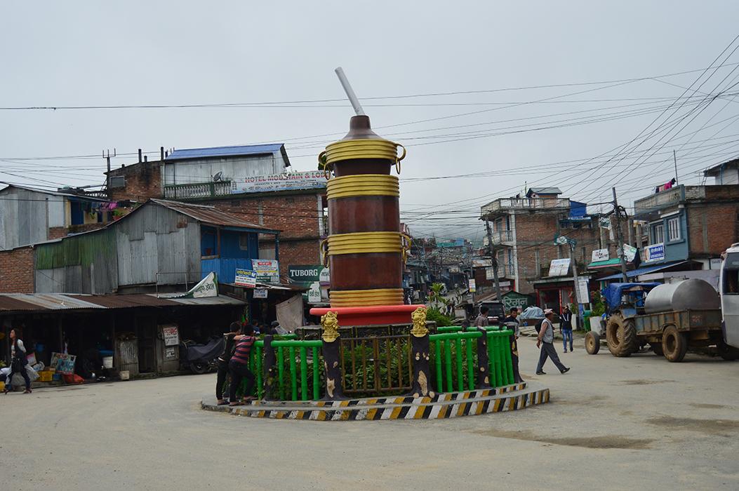 Tongba statue at Dhankuta Hile bazaar