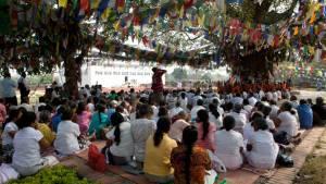 Meditation at Lumbini