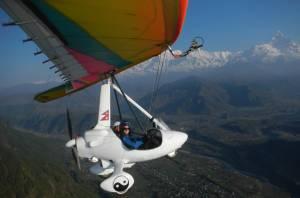 Ultra light flights in Pokhara
