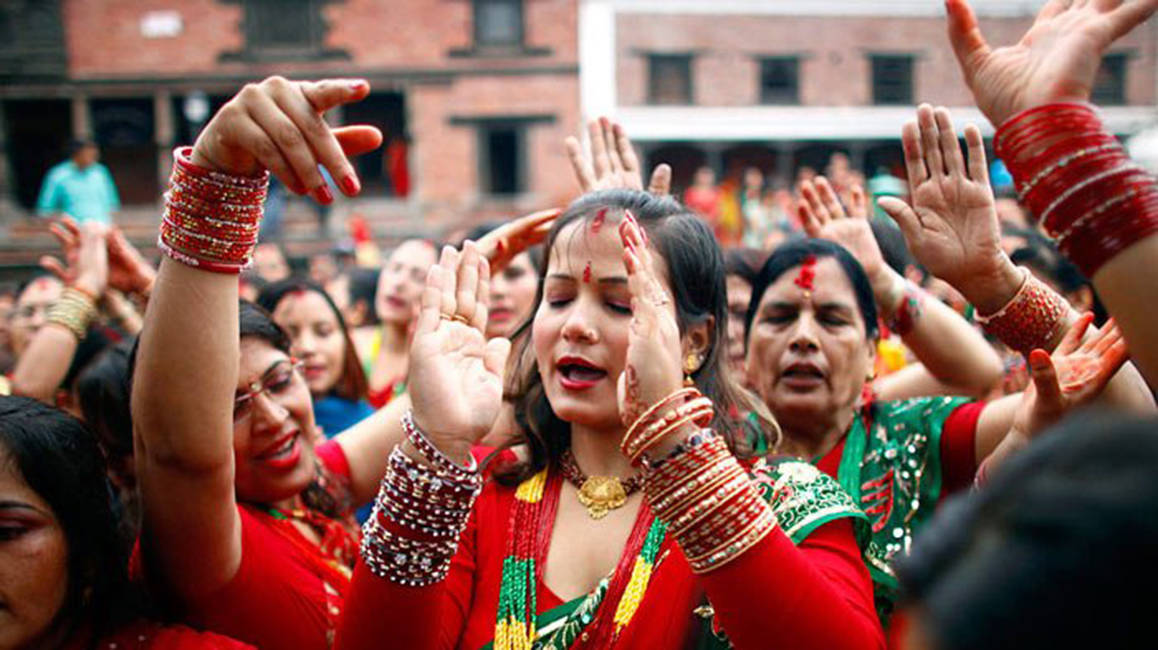 Teej celebration