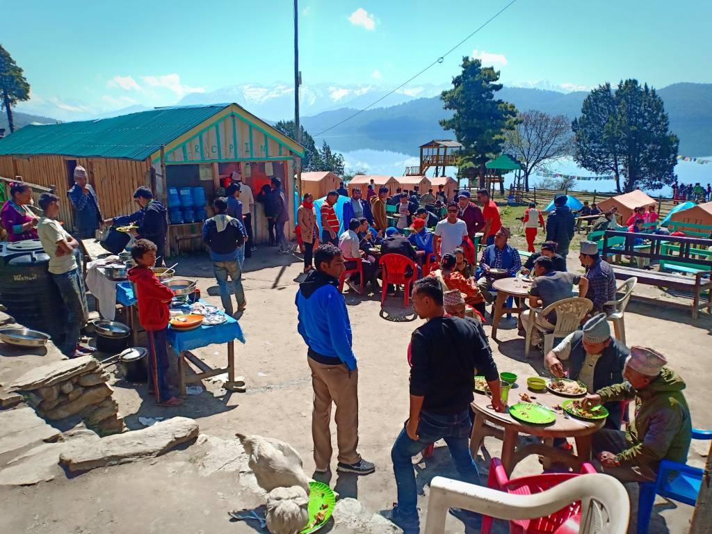 Visitors at Rara Lake resort