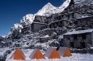Beding village in winter