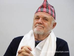 Josep in Nepali cap