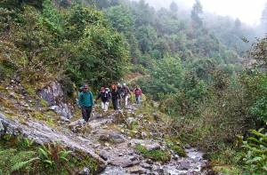 Helambu trek trail