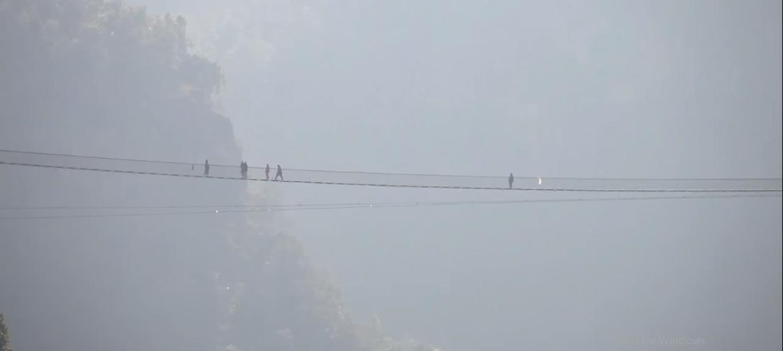 Longest suspension bridge in Nepal