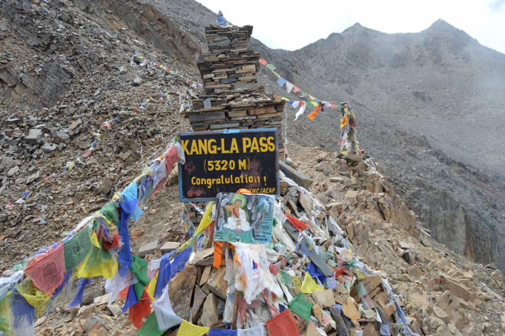 Kang-La Pass, a destination of Mountaineers