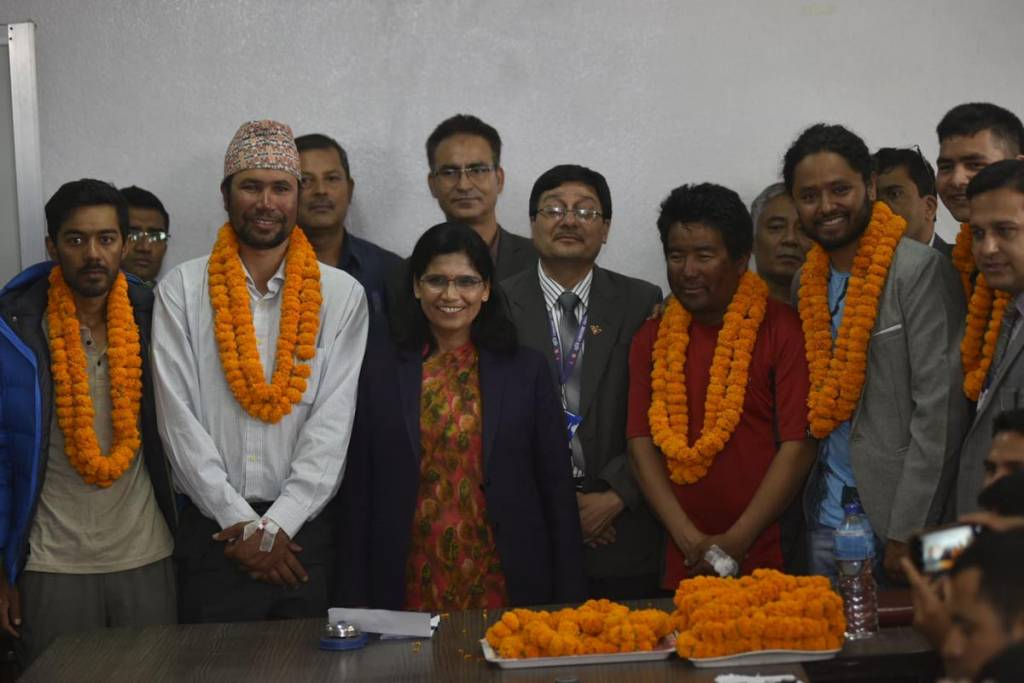 Everest Height Measurement Team Welcomed