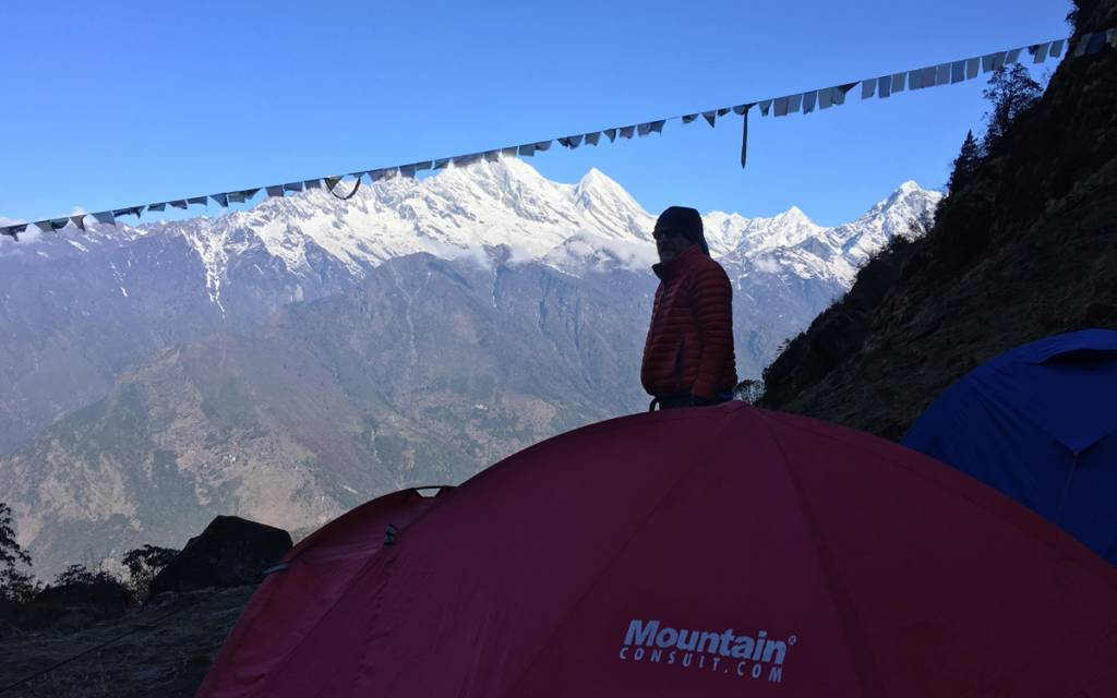 Baruntse peak attempt aborted due to lack of trails in Nepal