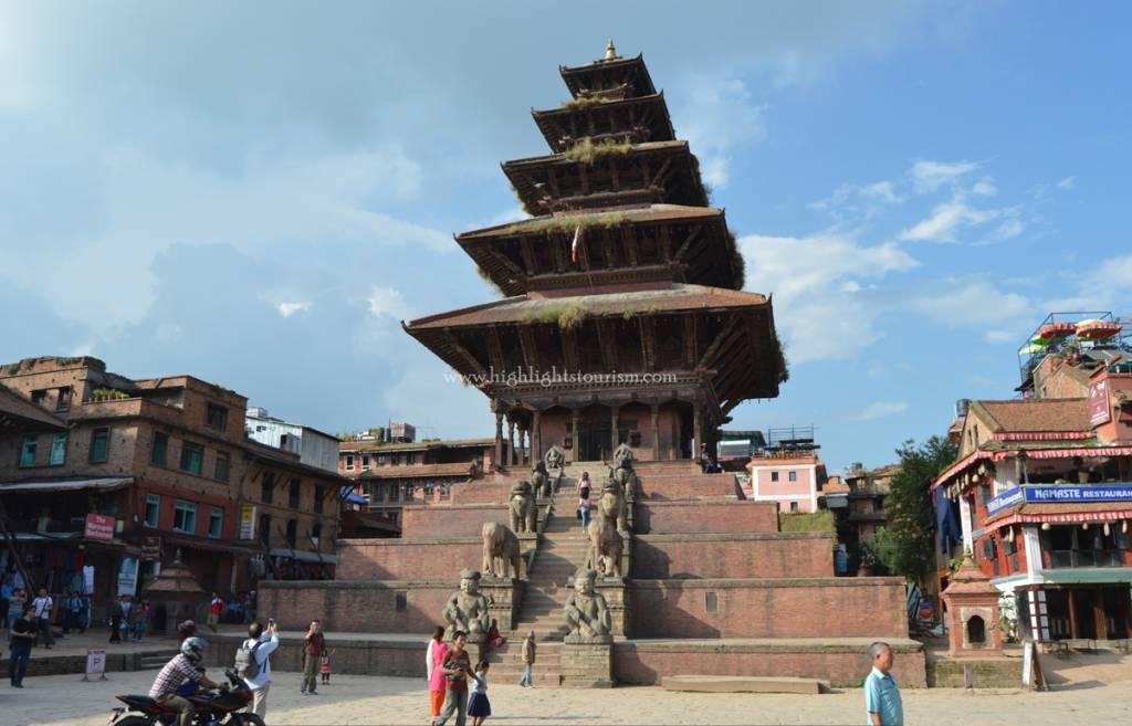 Icon of the Bhaktapur, Nyatapola Temple Cultural tour in Nepal