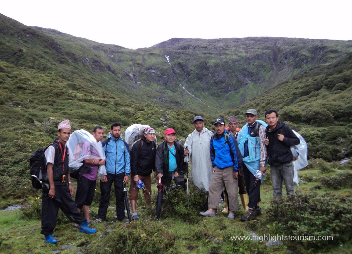 Vistors at Timbung pokhari
