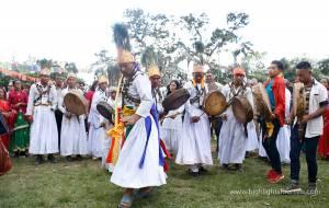 Shamans dance at Timal