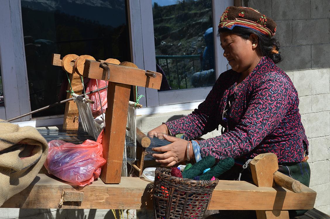 Tamang women weaving
