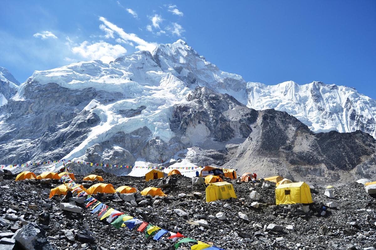 Everest base camp: File photo