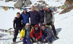 Karna with tourists