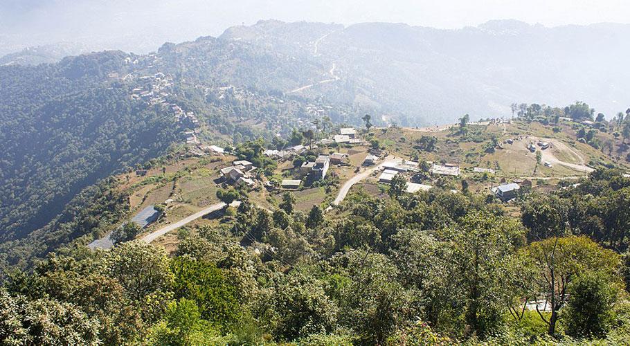 Sarankot-Dhampus trek trail