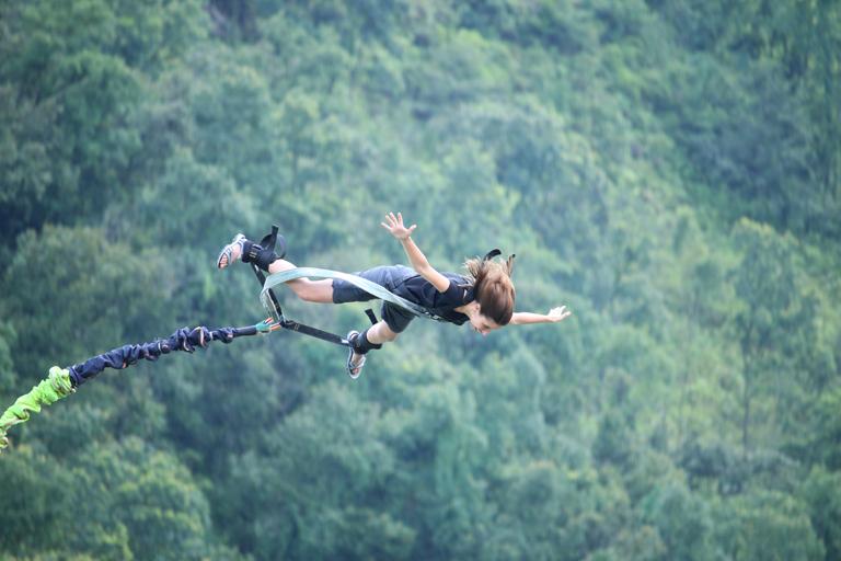Hong Kong Bungee Jump Naked