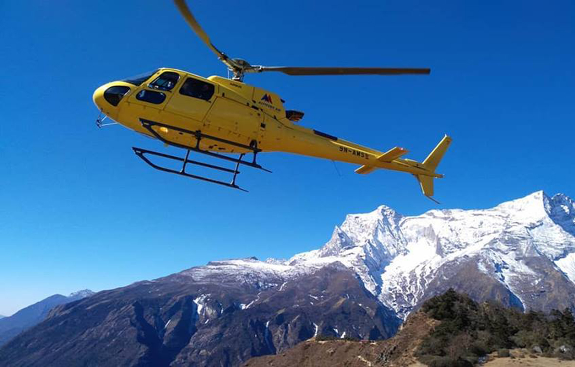 Mountain flights by helicopter