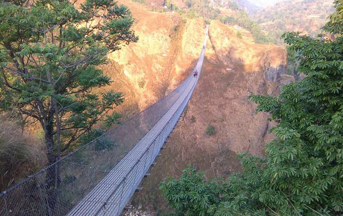 Baglung suspension bridge - Photo: Lala Gurung