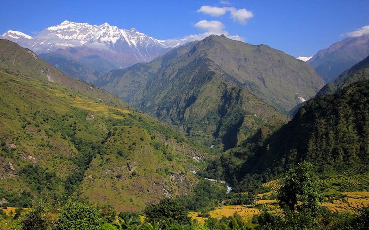 Dhaulagiri seen from hills