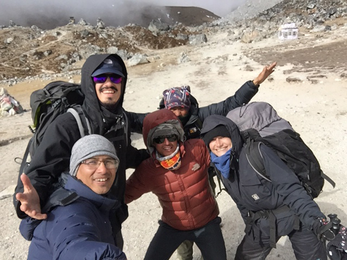 Dipak thapa with tourist met on the way