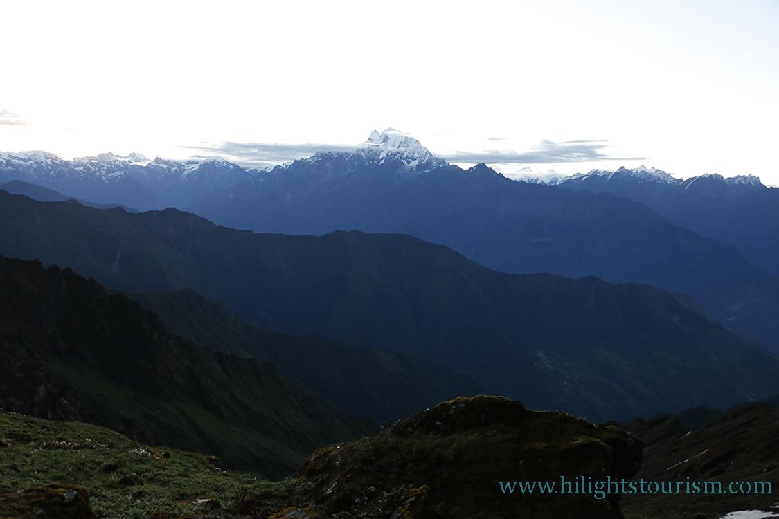 Langtang view from Tamang trail