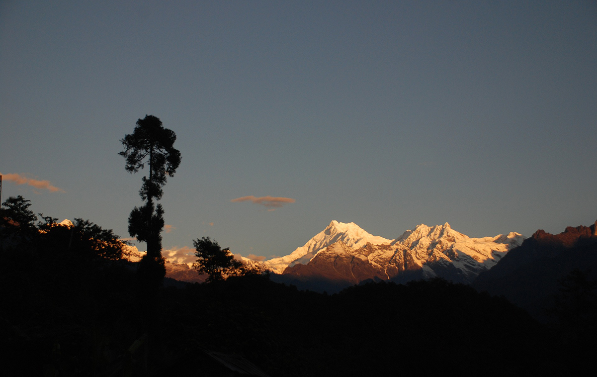 Sunset view of Kanchenjunga