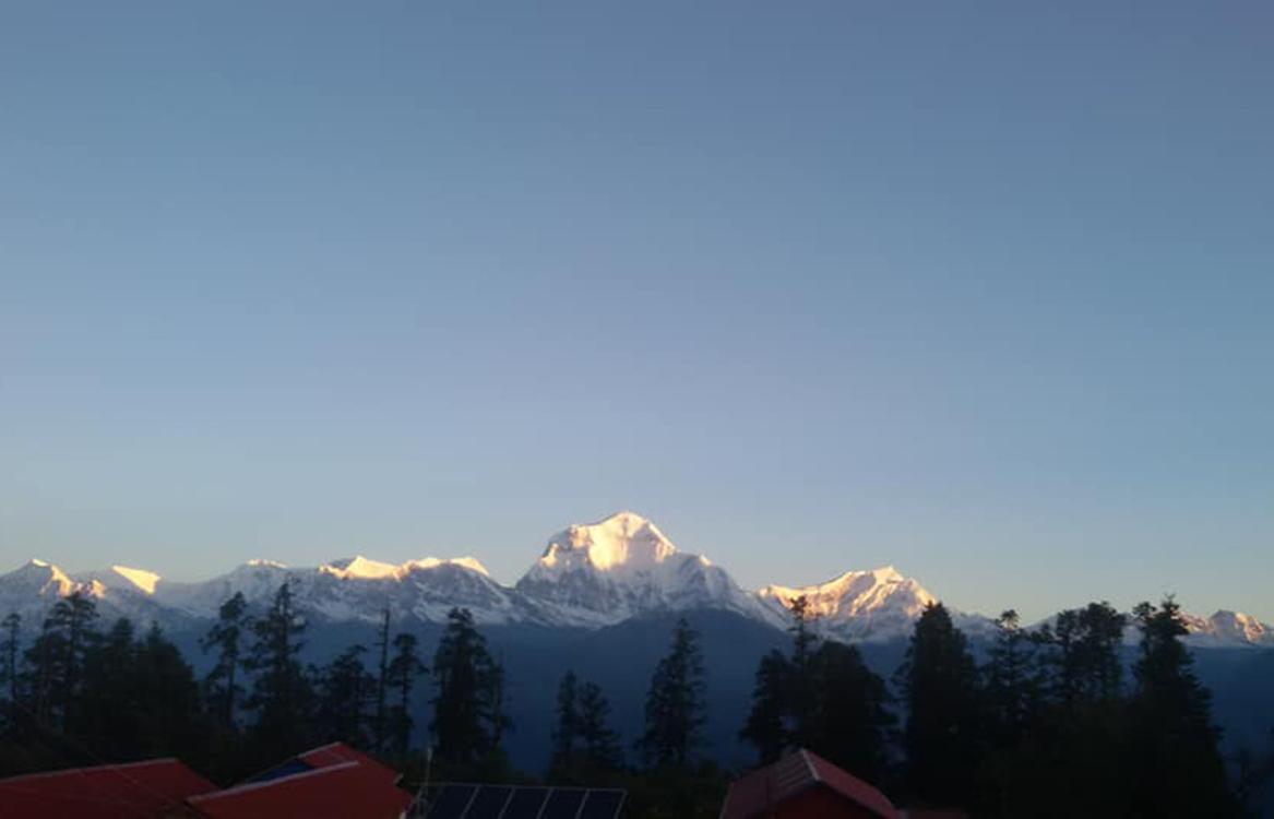 Sunrise view of Dhaulagiri