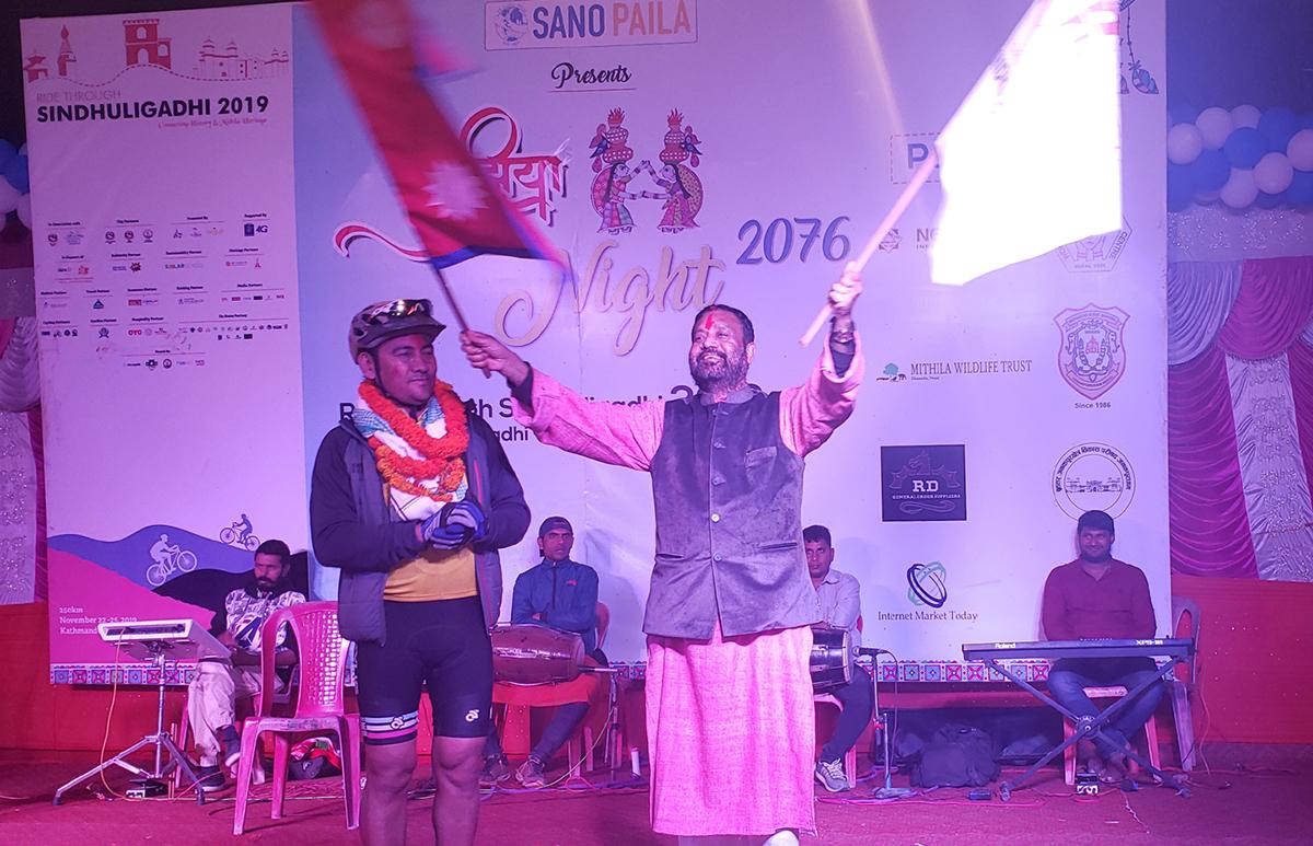 Ride through Sindhuligadi welcomed at Janakpurdham