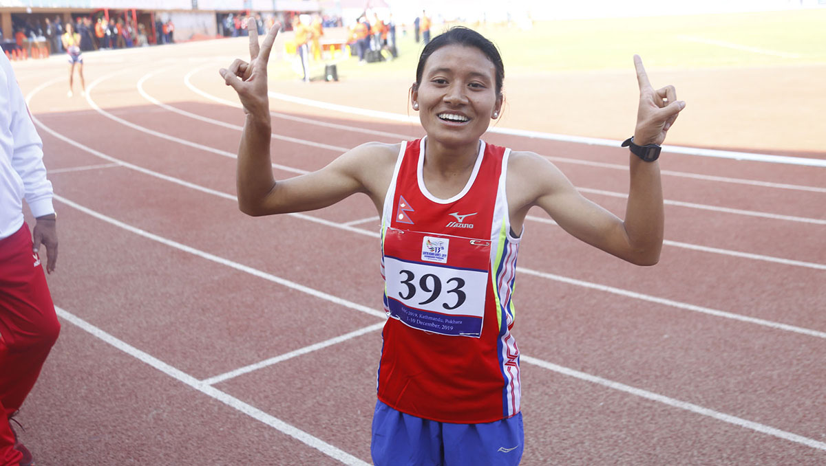 Santoshi Shrestha, wins Gold in Athletics
